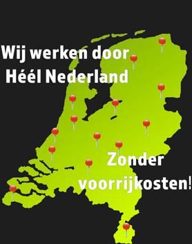 landkaart van Nederland met daarop de locaties van de EPA-U adviseurs