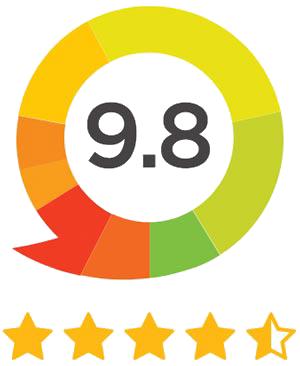 Cijfer met sterren beoordeling