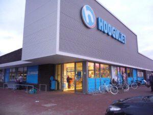 Afbeelding van een voorgevel van Hoogvliet Supermarkt