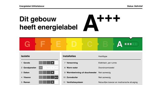 screenshot van het nieuwe energielabel